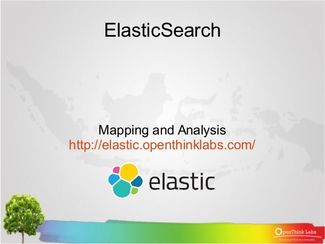 ElasticSearch Mapping and Analysis http://elastic.openthinklabs.com/