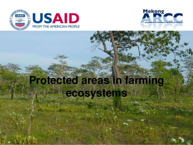 Protected areas in farming       ecosystems