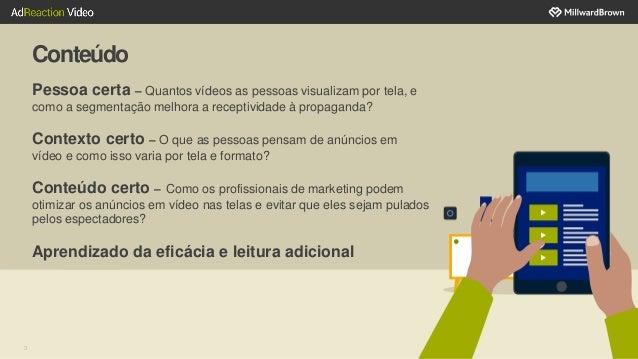 Conteúdo 3 Pessoa certa – Quantos vídeos as pessoas visualizam por tela, e como a segmentação melhora a receptividade à pr...
