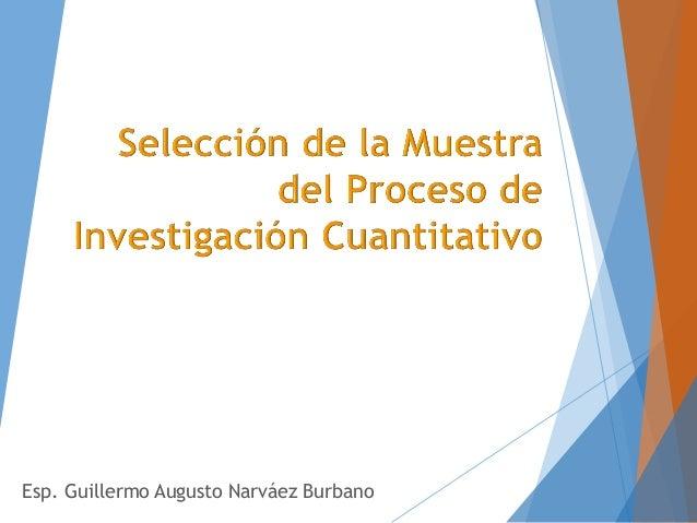 Esp. Guillermo Augusto Narváez Burbano