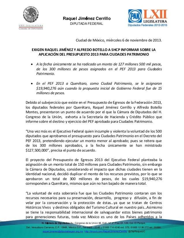 Del. Venustiano  Raquel Jiménez Cerrillo DIPUTADA FEDERAL  Ciudad de México, miércoles 6 de noviembre de 2013. EXIGEN RAQU...