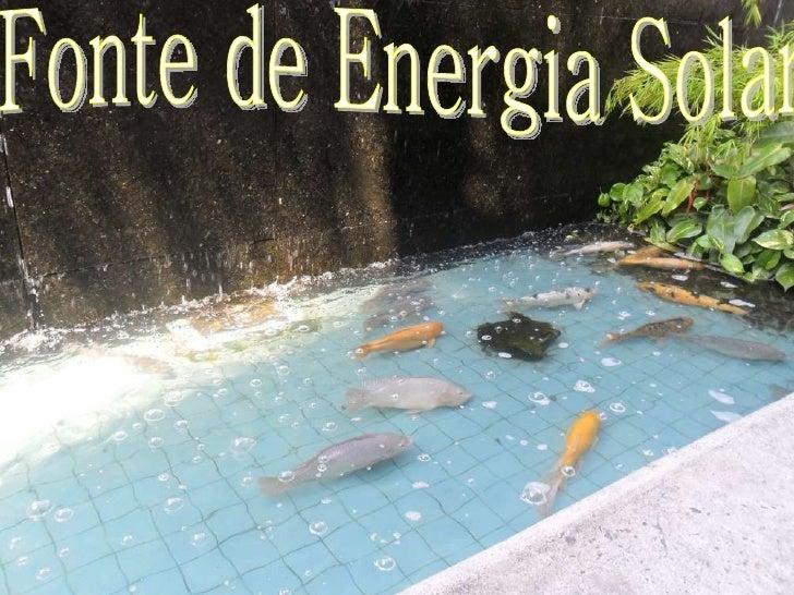Fonte de Energia Solar