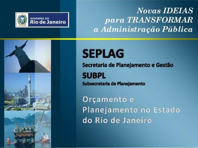 Novas IDEIAS para TRANSFORMAR a Administração Pública