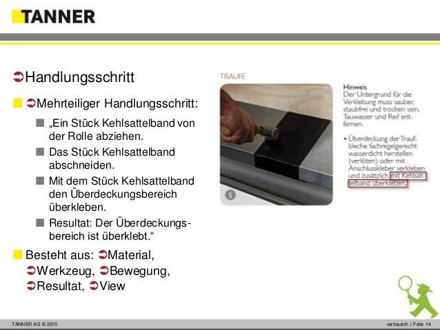 """© 2014 vertraulich   Folie 14TANNER AG © 2015 vertraulich   Folie 14  Mehrteiliger Handlungsschritt:  """"Ein Stück Kehlsa..."""