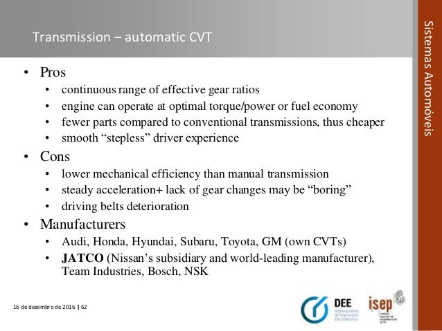 automotive systems course module 06 power transmission systems in rh slideshare net Automatic Transmission Manual Transmission Clutch