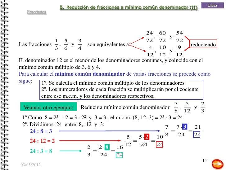 Números Racionales: Fracciones