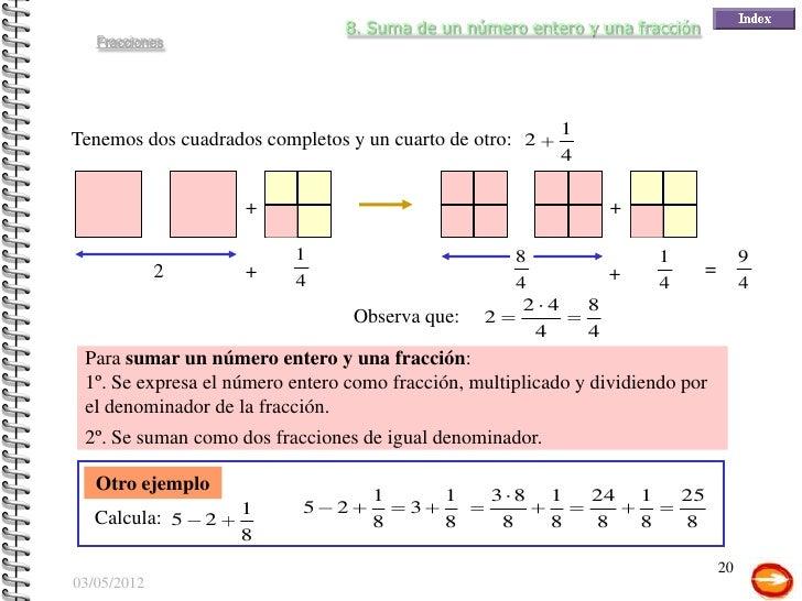 N meros racionales fracciones for Cuanto es un cuarto