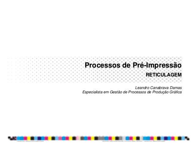 Processos de Pré-Impressão                                   RETICULAGEM                              Leandro Canabrava Da...