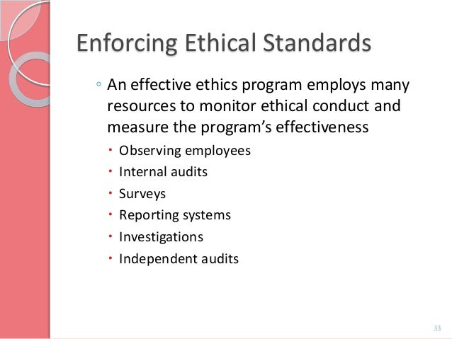 ethical standards and codes paper Full answer ethics and laws set standards for how the members of a society should behave ethical codes tell people how to behave while laws enforce certain behavioral codes.