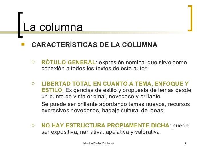 Redacción Periodística 2 La Columna