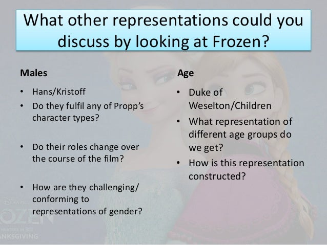 representation of gender in the film Time, instead taking all of the films as a lump representation of gender roles snow-white and the seven dwarfs, the first disney animated feature, came out in 1937, while the latest film, winnie.