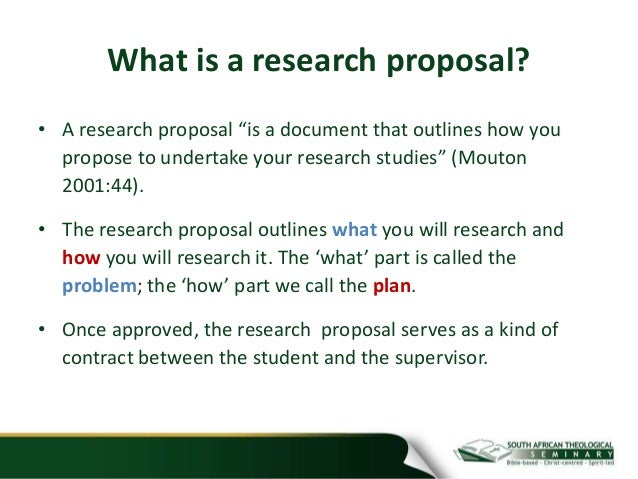 What constitutes a quality research proposal