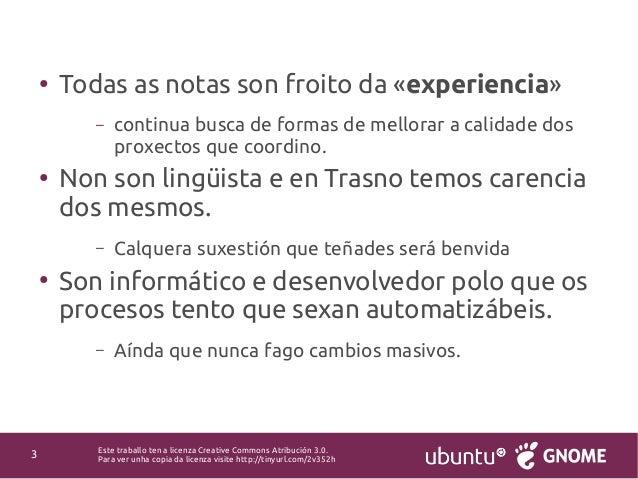 Revisión lingüística e Q&A na tradución de software libre Slide 3