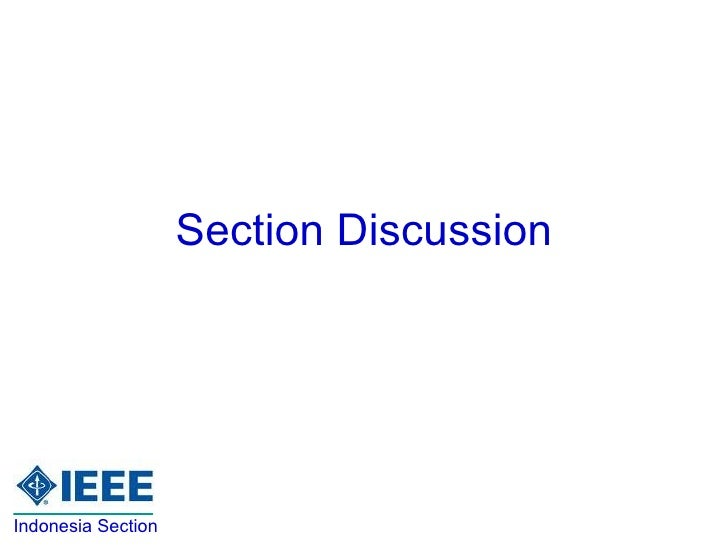 Section Discussion