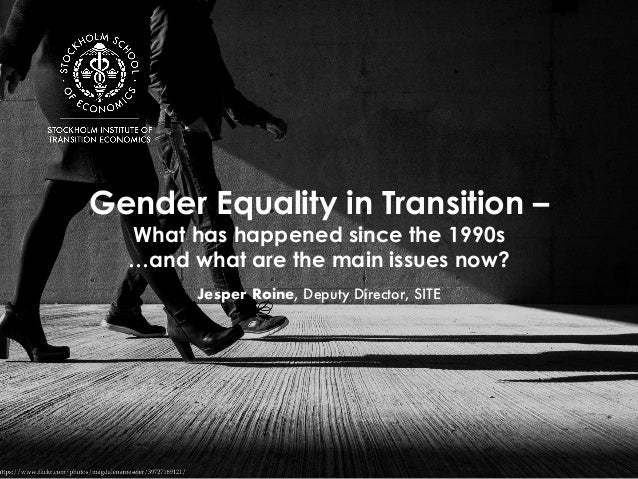 Gender Equality in Transition – What has happened since the 1990s …and what are the main issues now? Jesper Roine, Deputy ...