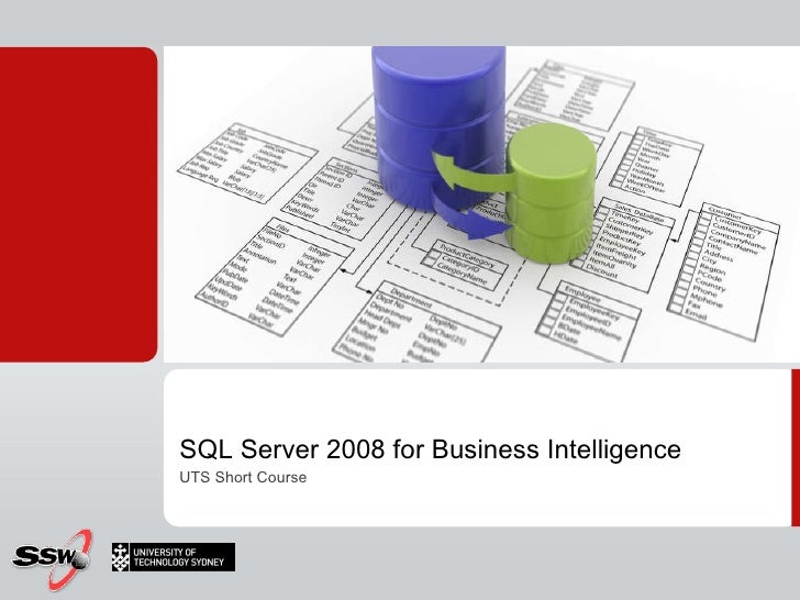 SQL Server 2008 for Business Intelligence UTS Short Course