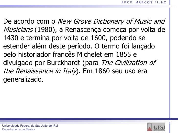 Teoria Musical na Renascença, por Marcos Filho Slide 3