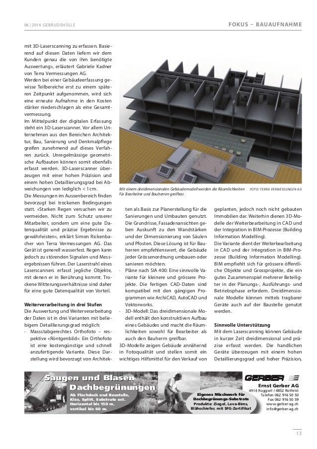 detaillierte Gebäudeerfassung: Gebäudehülle 06_2014, terra vermesseungen Slide 3