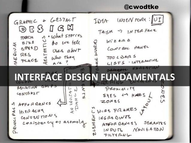 @cwodtke   cwodtke.com   eleganthack.com   boxesandarrows.com   Creative Commons Share Alike @cwodtke INTERFACE DESIGN FUN...
