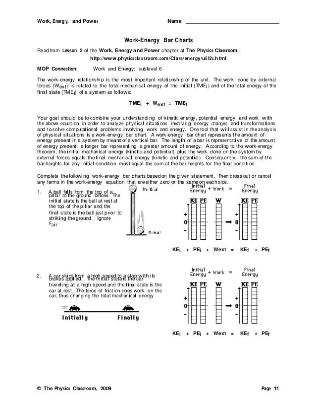calculating work and power worksheet Termolak – Calculating Work Worksheet