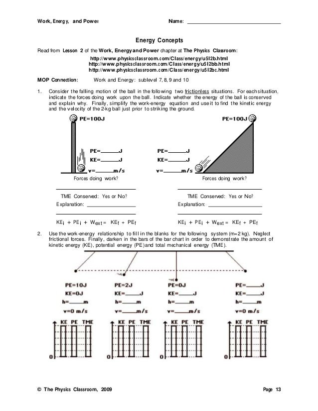 Printables Energy Work And Power Worksheet Answer Key work energy and power worksheet answers versaldobip davezan