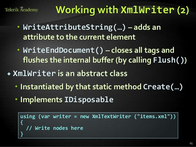 XStreamingElement.Save Method (XmlWriter)