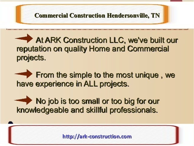 At ARK Construction LLC, we've built ourAt ARK Construction LLC, we've built our reputation on quality Home and Commercial...