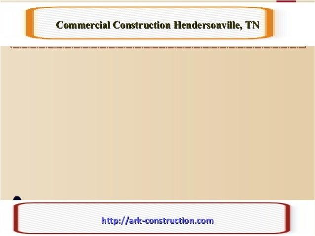 Commercial Construction Hendersonville, TNCommercial Construction Hendersonville, TN http://ark-construction.comhttp://ark...