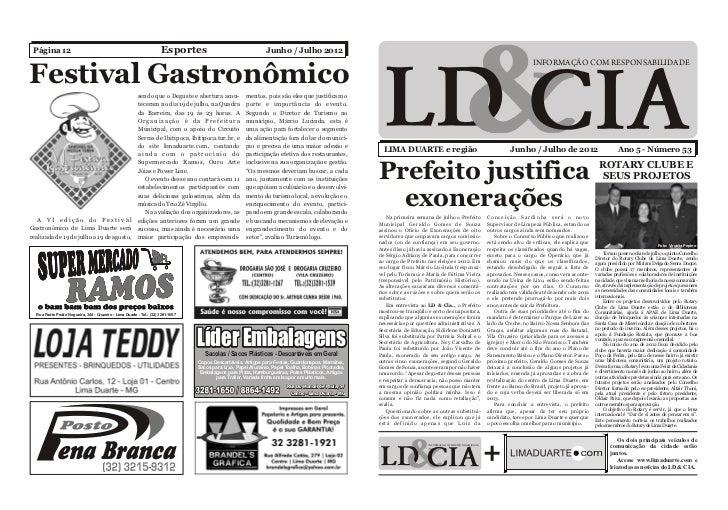 Página 12                                                            Esportes                                  Junho / Jul...