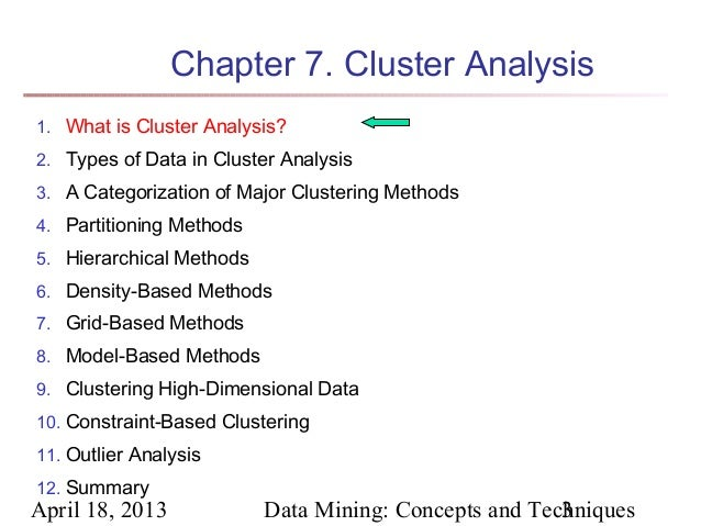 Chapter 7 Data Mining Concepts And Techniques 2nd Ed