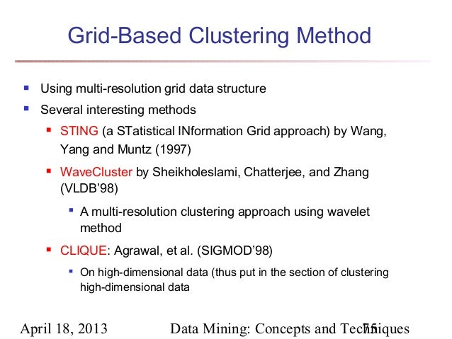 Sting a statistical information grid approach to spatial data mining