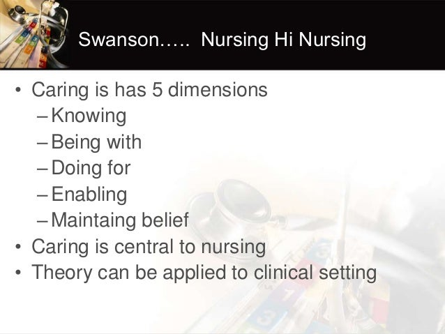swanson looking after theory