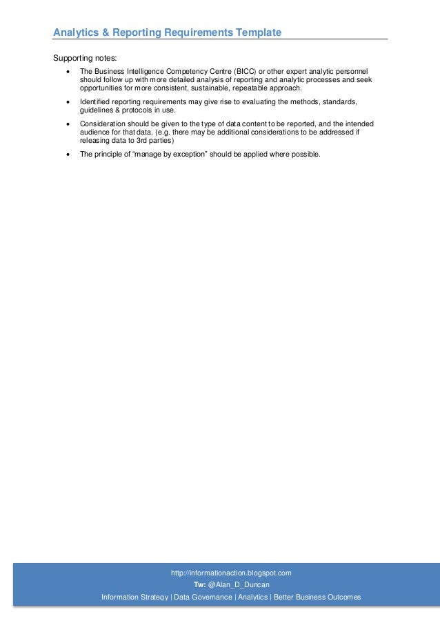 report requirement template