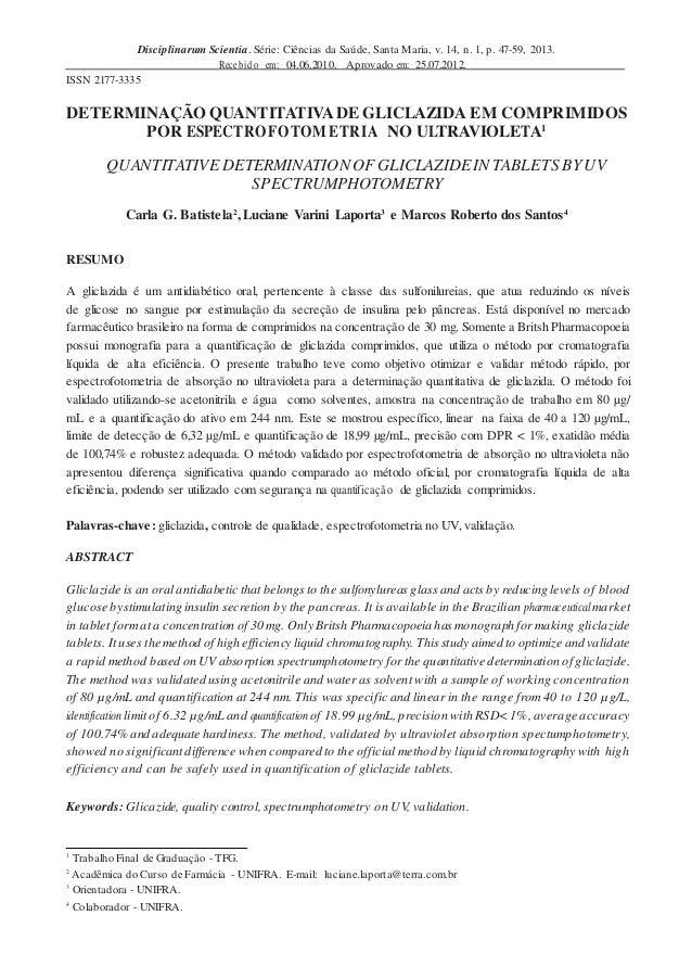 Disciplinarum Scientia. Série: Ciências da Saúde, Santa Maria, v. 14, n. 1, p. 47-59, 2013. Recebido em: 04.06.2010. Aprov...