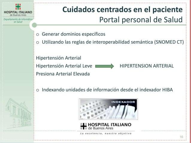 o Generar dominios específicos o Utilizando las reglas de interoperabilidad semántica (SNOMED CT) Hipertensión Arterial Hi...
