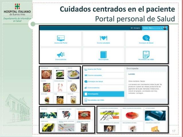 17 Cuidados centrados en el paciente Portal personal de Salud