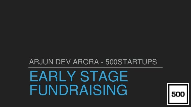 QUICKLY RAISE $ FOR YOUR EARLY STAGE STARTUP FROM GOAL