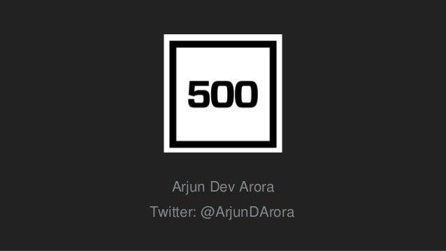 Startup Istanbul 2016 / Arjun Arora - Partner 500 Startups