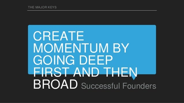CLOSE THE ROUND QUICKLY SO YOU CAN GET BACK TO WORK Successful Founders THE MAJOR KEYS