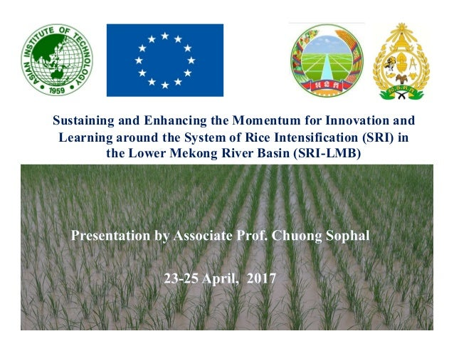 Sustaining and Enhancing the Momentum for Innovation and Learning around the System of Rice Intensification (SRI) in the L...