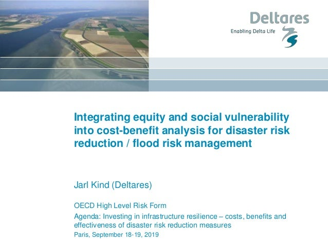 Integrating equity and social vulnerability into cost-benefit analysis for disaster risk reduction / flood risk management...