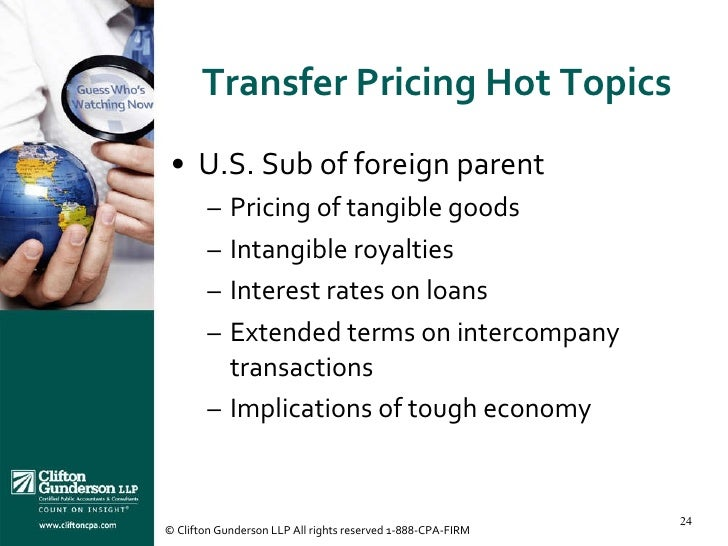 Stock options transfer pricing
