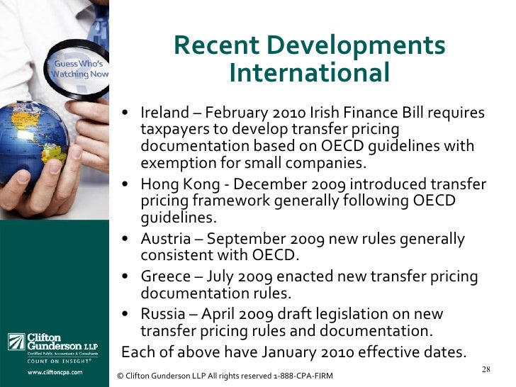 issue of international transfer pricing