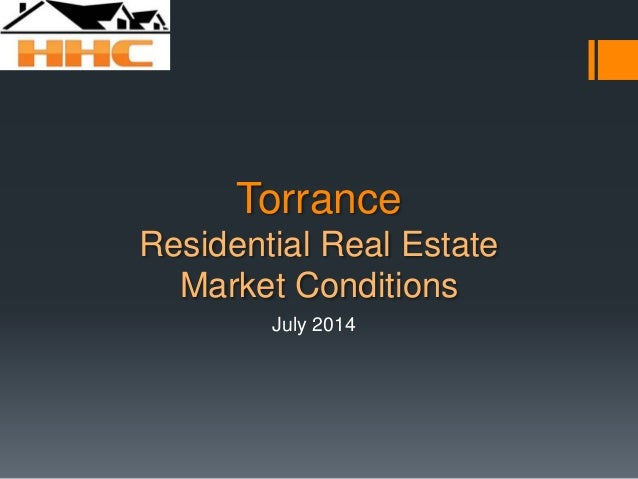 Torrance Residential Real Estate Market Conditions July 2014