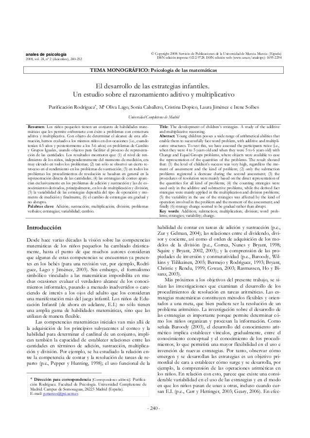 anales de psicología  2008, vol. 24, nº 2 (diciembre), 240-252  © Copyright 2008: Servicio de Publicaciones de la Universi...
