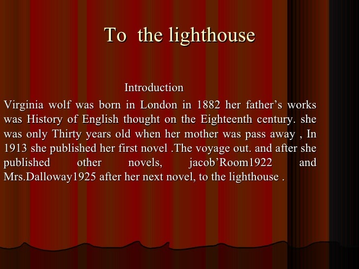 To the lighthouse summary