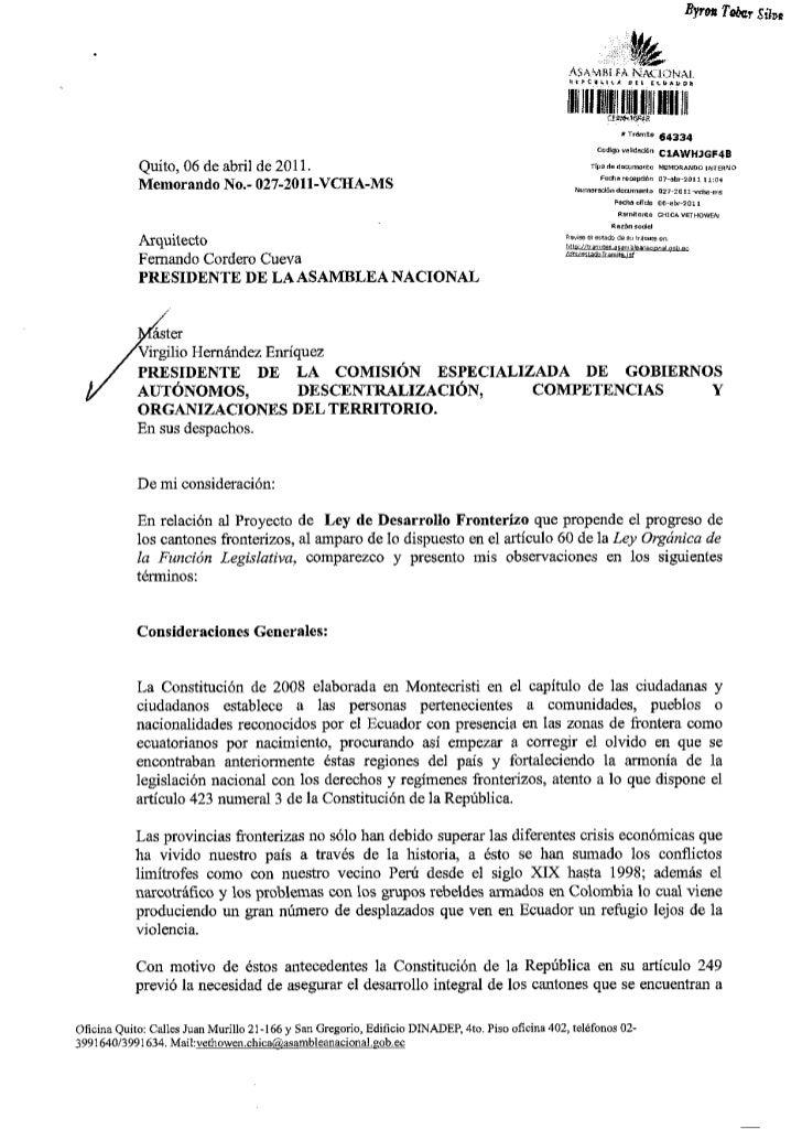 07 abr-2011 observaciones proyecto de ley de desarrollo froterizo