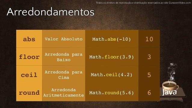 ... Math Ceil Floor Java By Curso De Java 07 Operadores Parte 1 ...