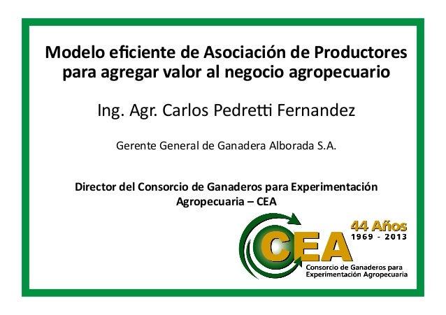 Modelo  eficiente  de  Asociación  de  Productores   para  agregar  valor  al  negocio  agropecuario...