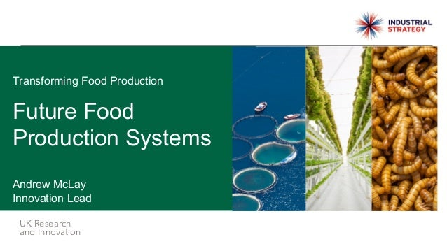 UK Research and Innovation Future Food Production Systems Andrew McLay Innovation Lead Transforming Food Production